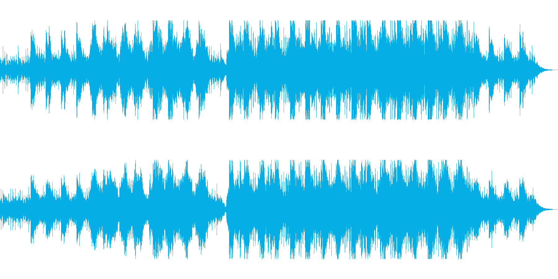 バイオリンの入った新鮮なストリングの曲の再生済みの波形