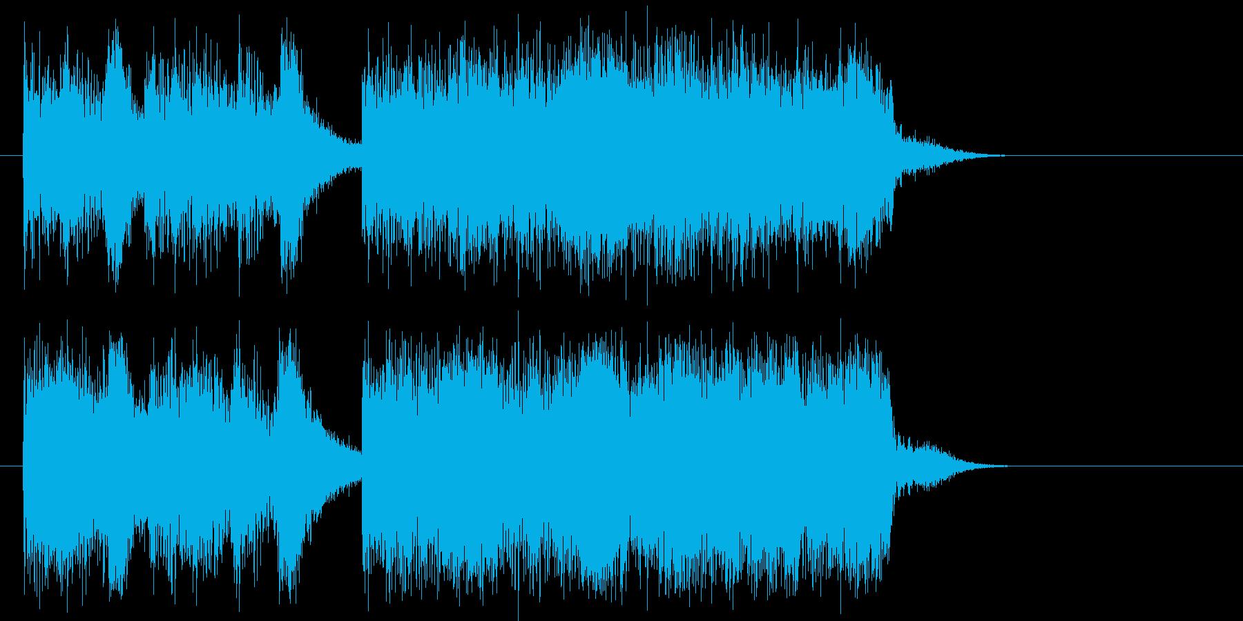 ベーシックで、いかにもロックという曲の再生済みの波形