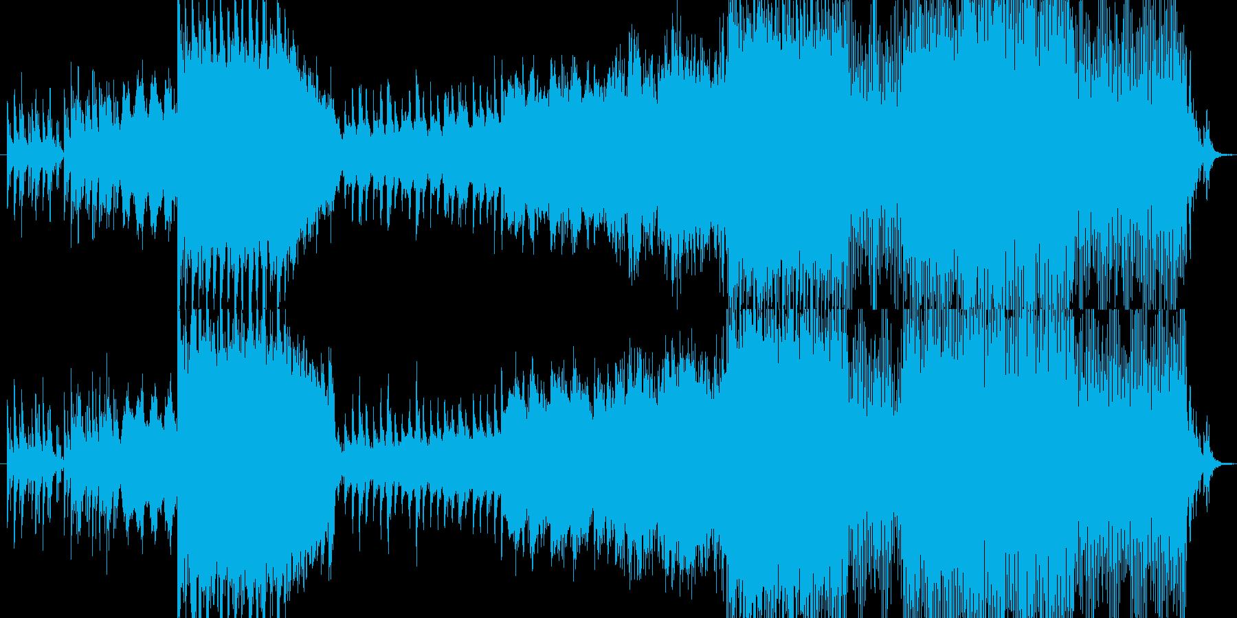 生命の誕生から進化を思わせるインスト曲の再生済みの波形