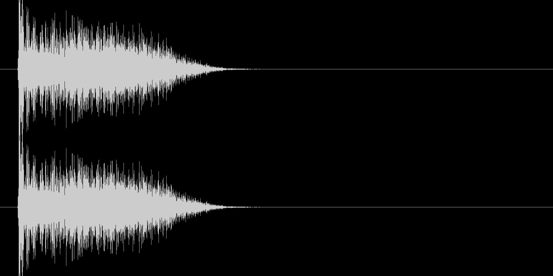 ブオーン、ドコーンという衝撃音1ですの未再生の波形
