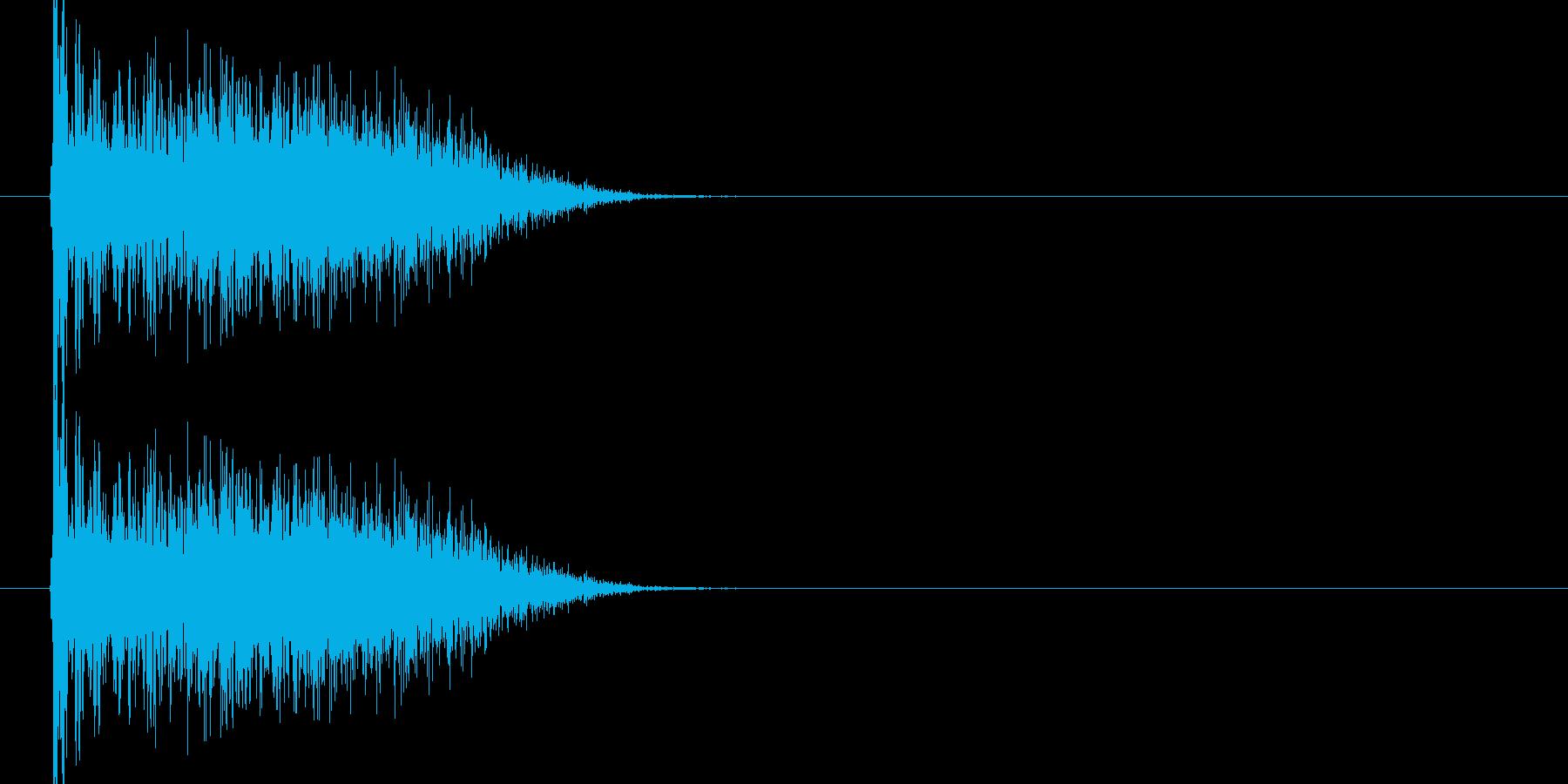 ブオーン、ドコーンという衝撃音1ですの再生済みの波形