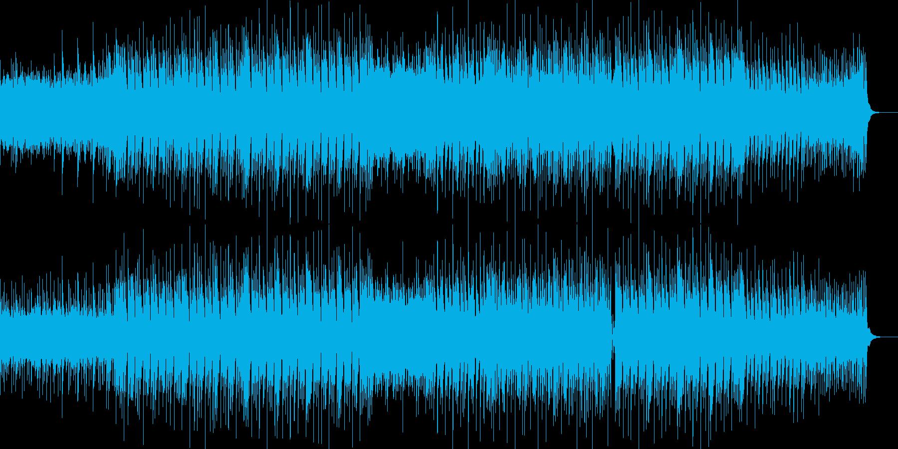 怪しげで緊迫した感じのBGMの再生済みの波形