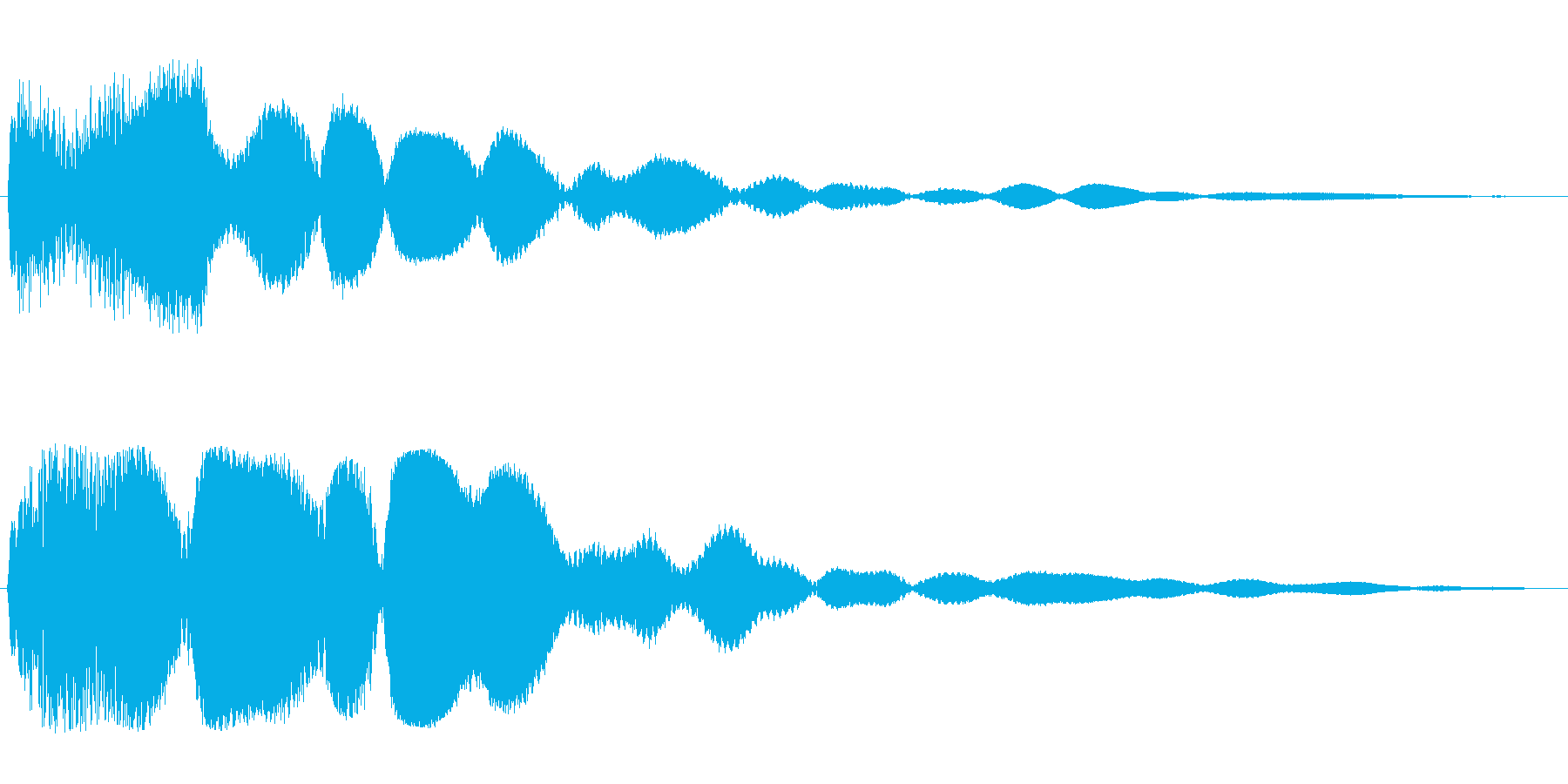 ゴーン(長く響く鐘の音)の再生済みの波形