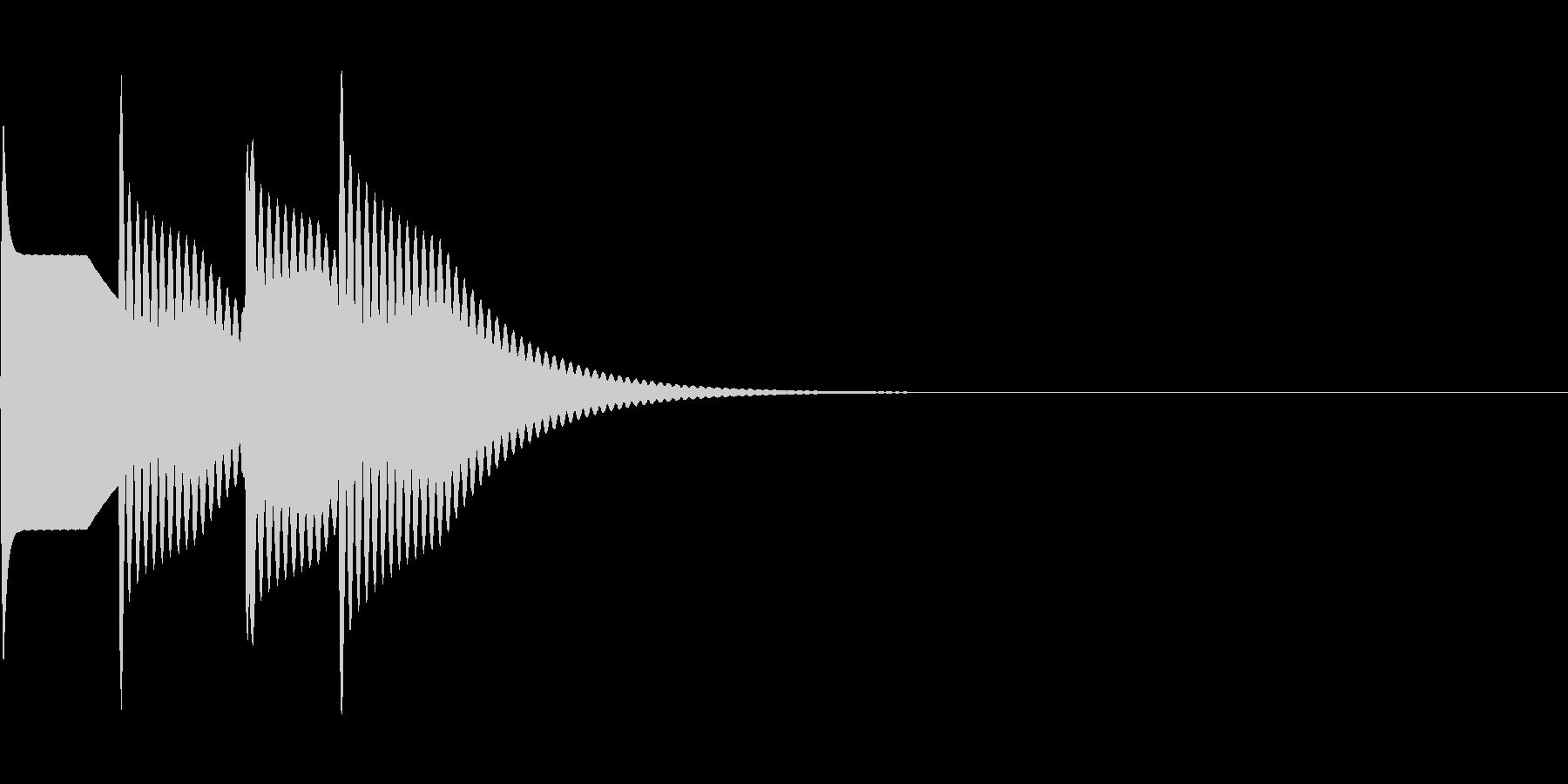 ピンポーン×2(正解)の未再生の波形