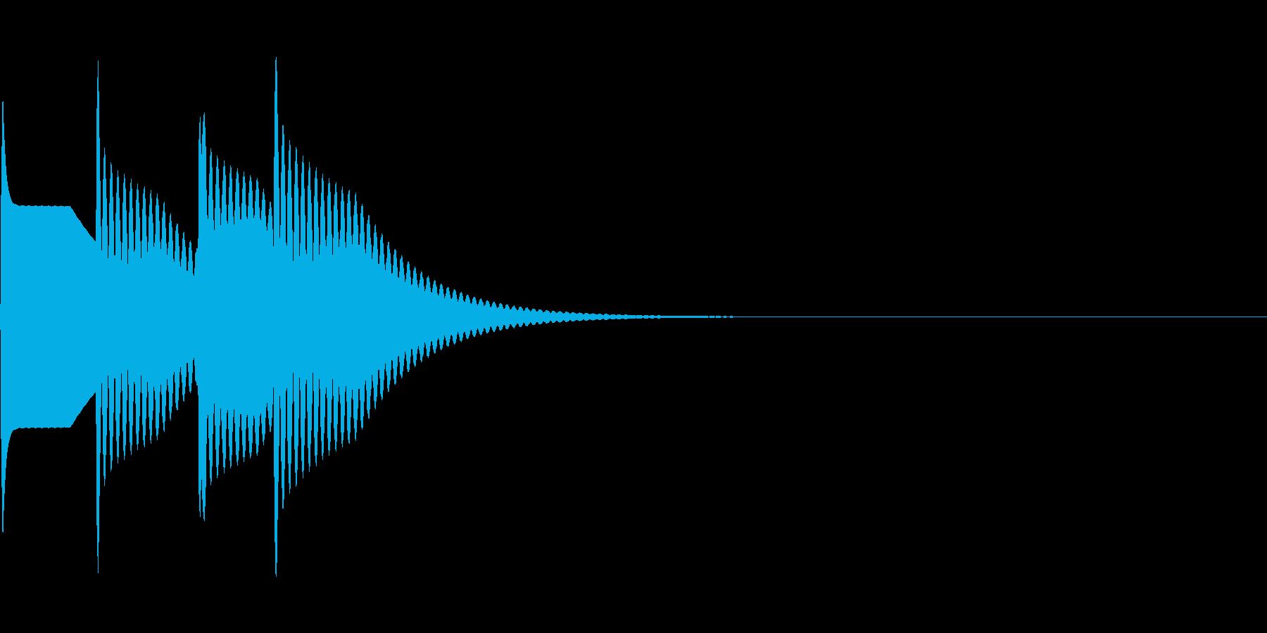 ピンポーン×2(正解)の再生済みの波形