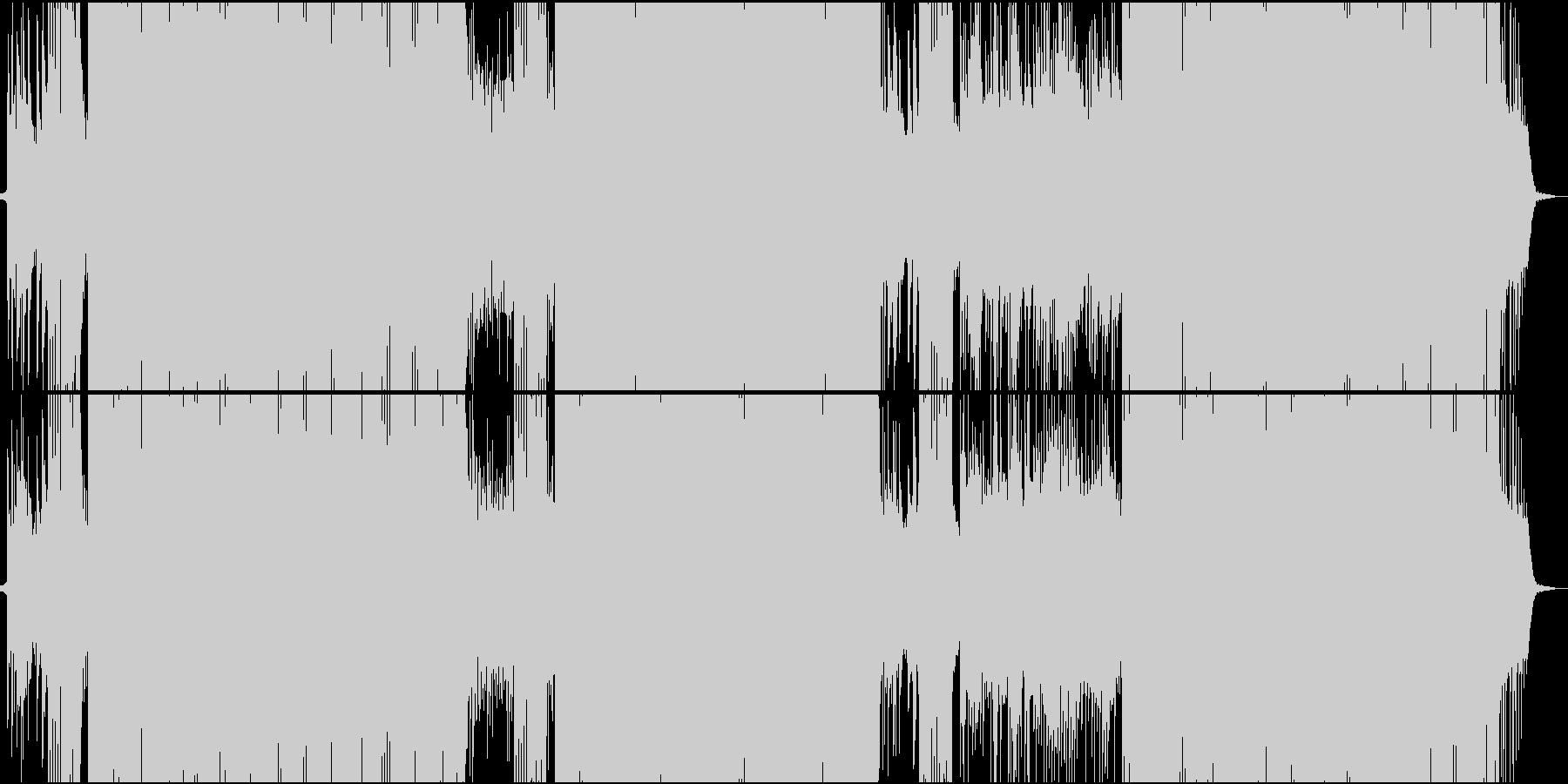 「タイスの瞑想曲」をトランス系アレンジの未再生の波形