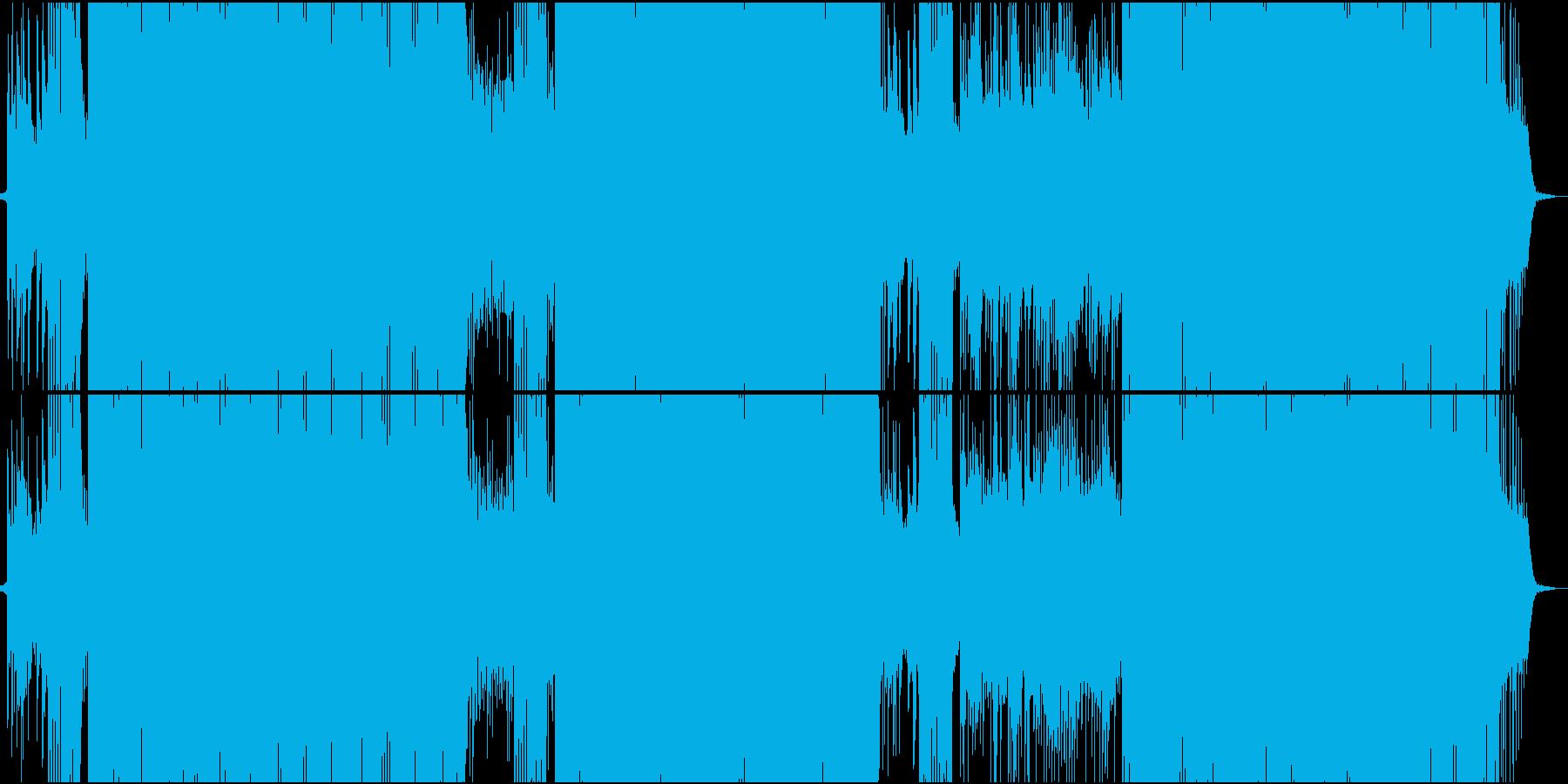 「タイスの瞑想曲」をトランス系アレンジの再生済みの波形