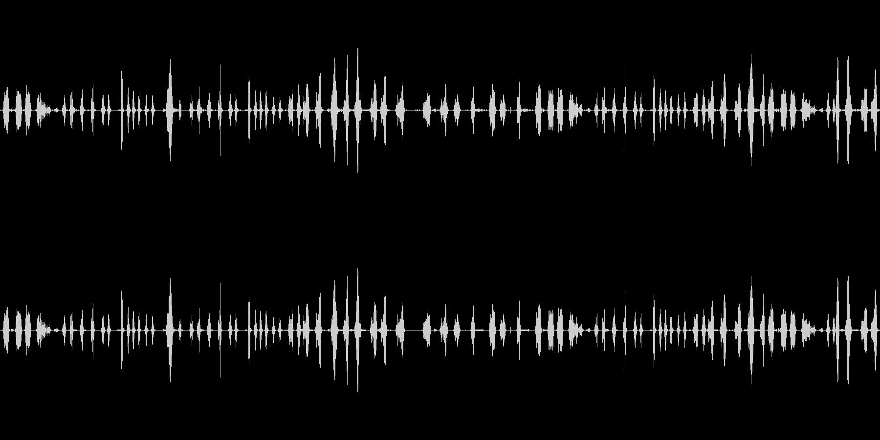 喋った声を早送りにした音の未再生の波形