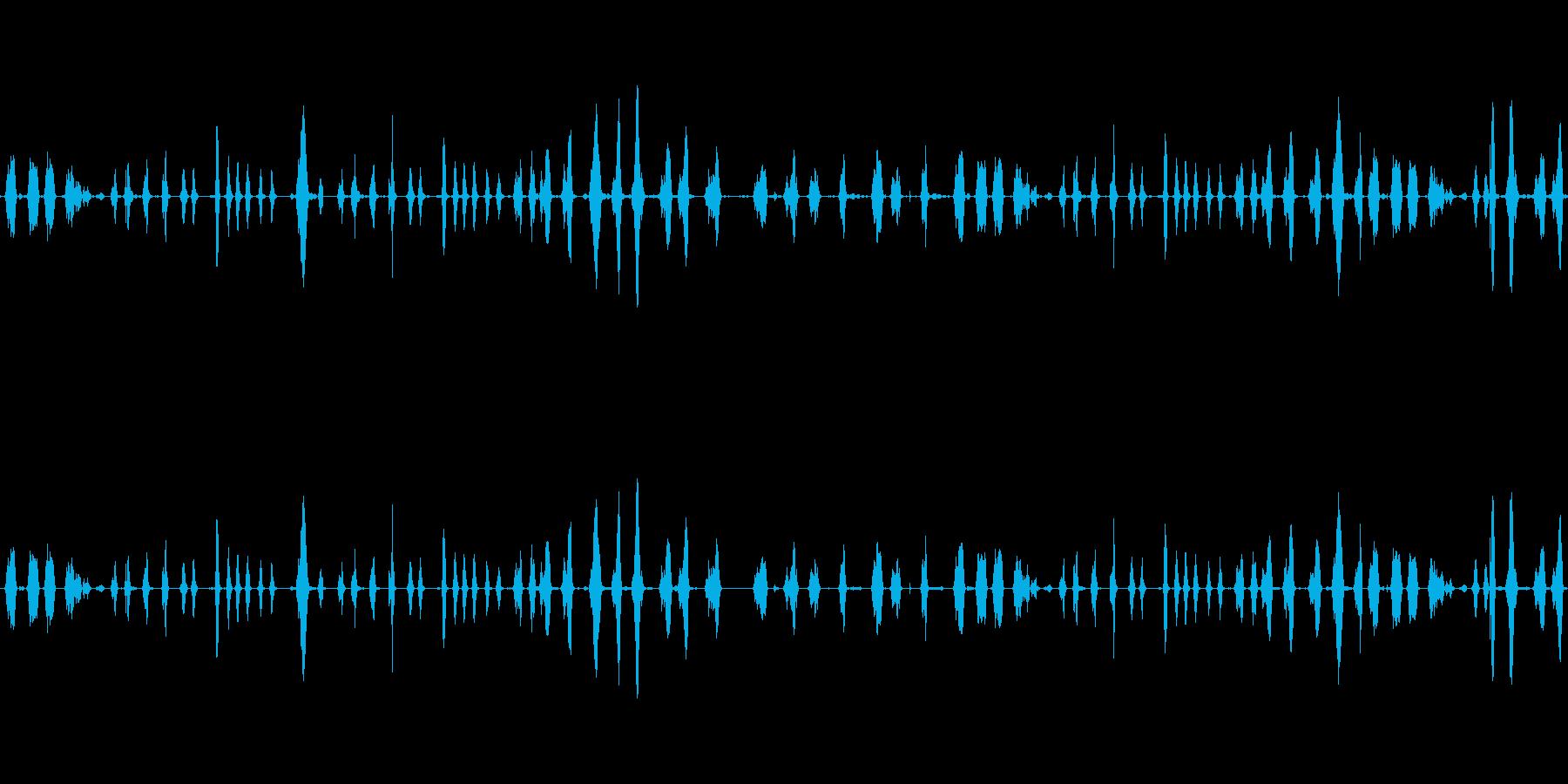 喋った声を早送りにした音の再生済みの波形