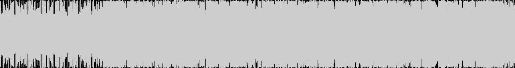 ギターのうねりとインダストリアルなFX…の未再生の波形