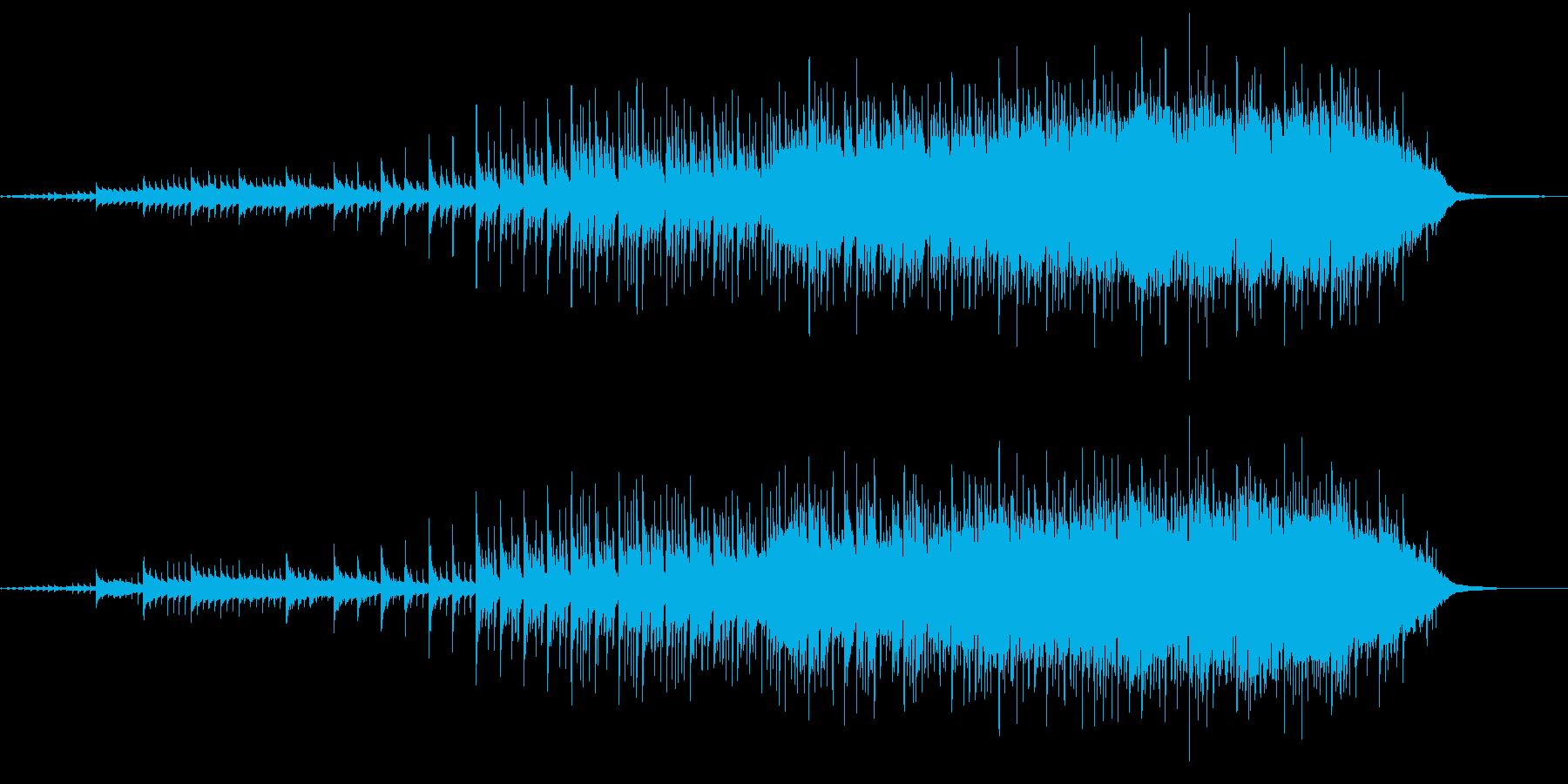 エキサイティングなインストロックの再生済みの波形