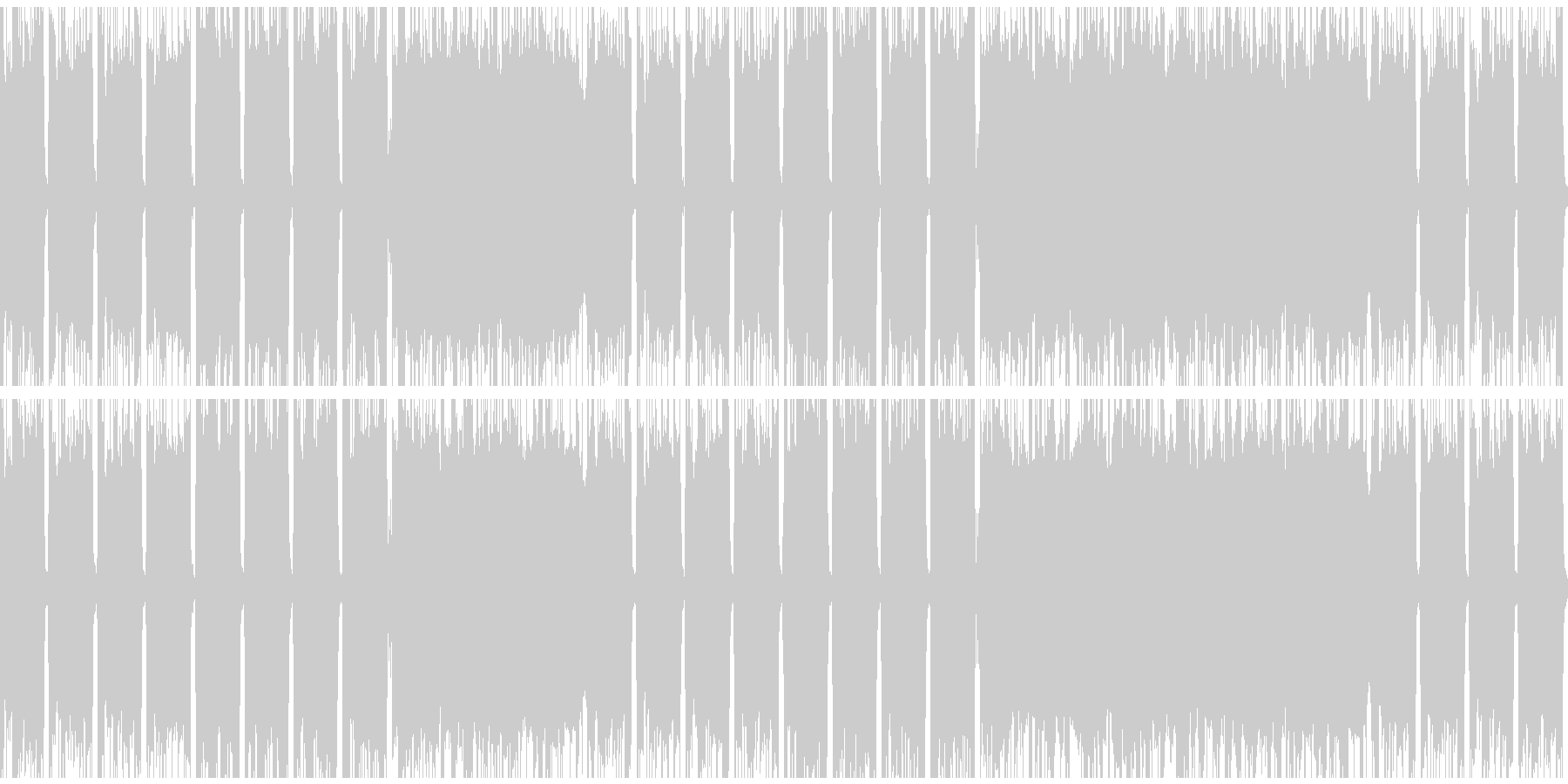 ループできるパンクロックの未再生の波形