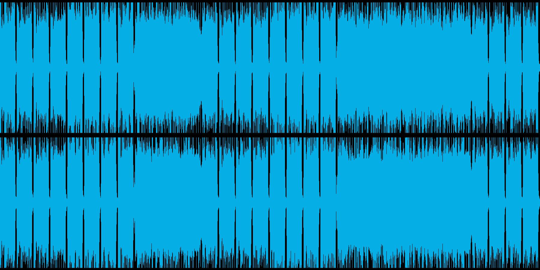 ループできるパンクロックの再生済みの波形