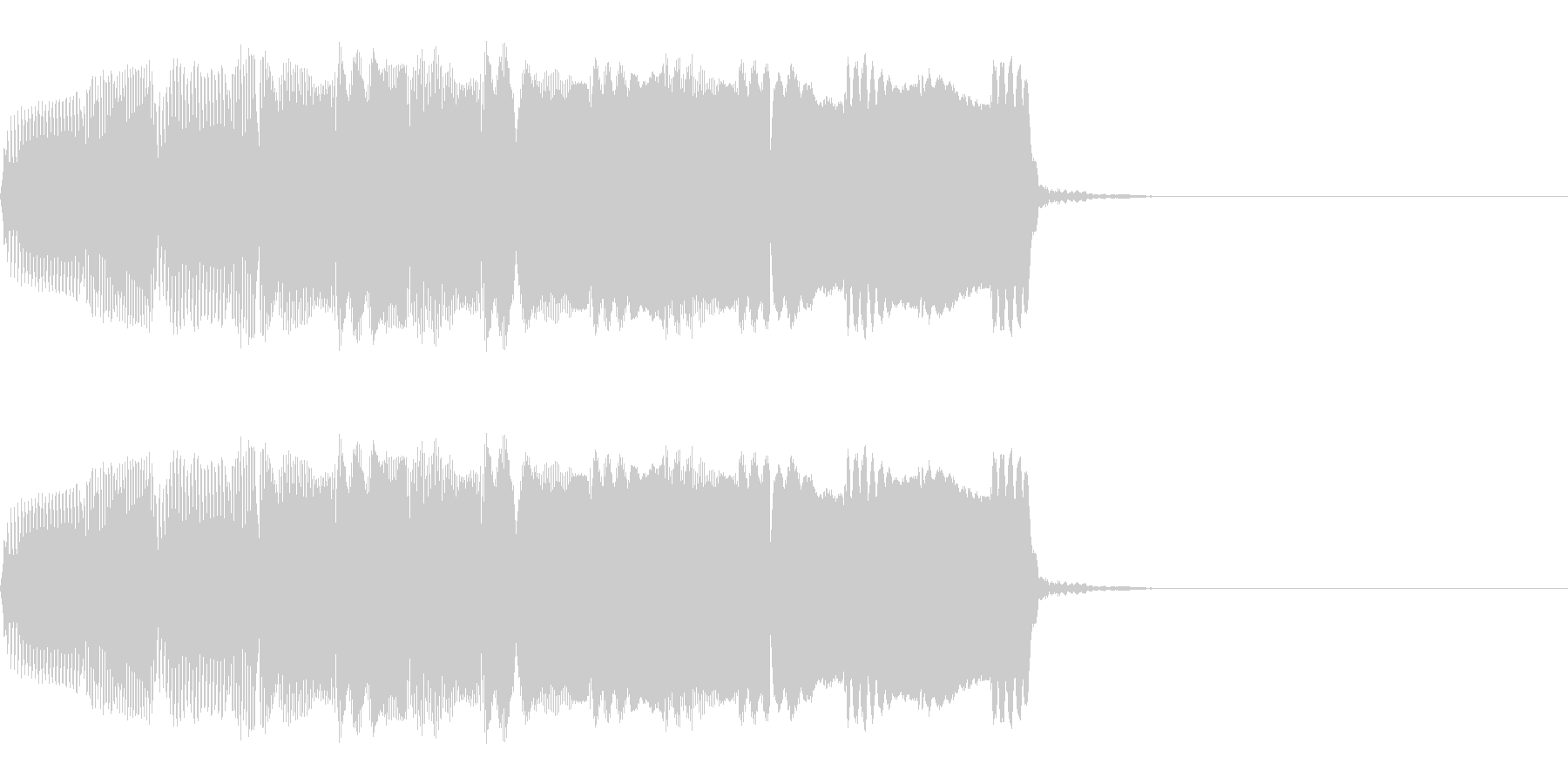 明るい響きのアラーム音(単音)の未再生の波形