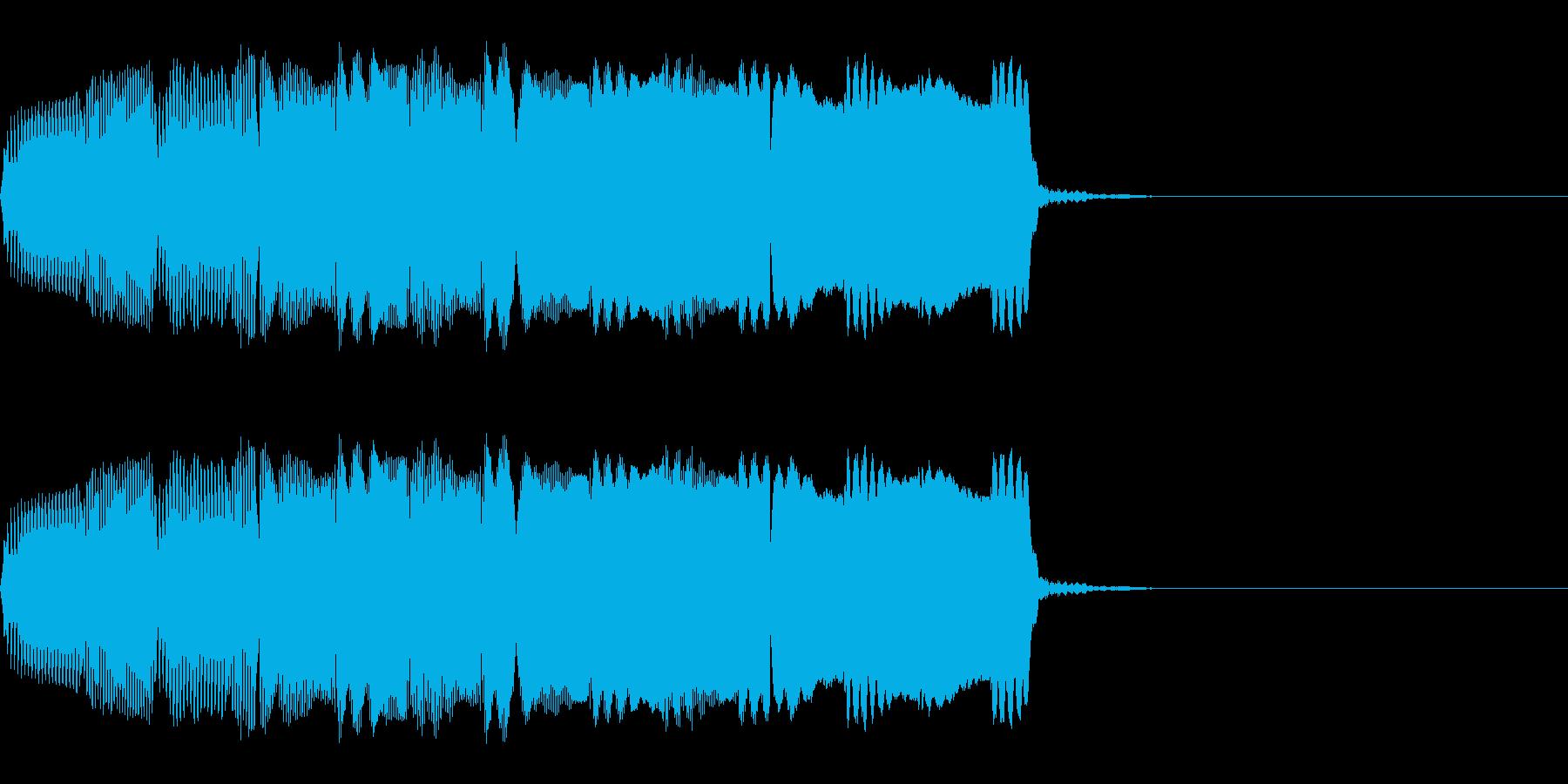 明るい響きのアラーム音(単音)の再生済みの波形