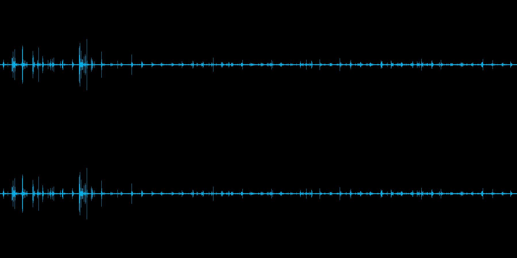【生音】足音 - スニーカー 03の再生済みの波形