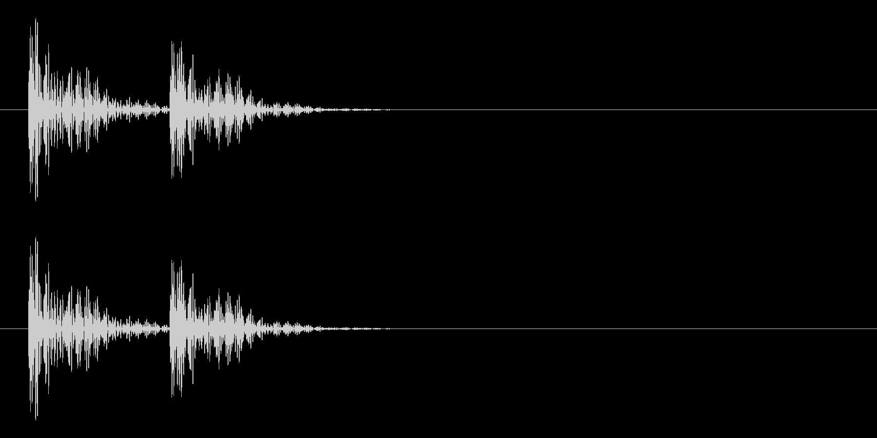 エラーを返す時などの効果音。の未再生の波形
