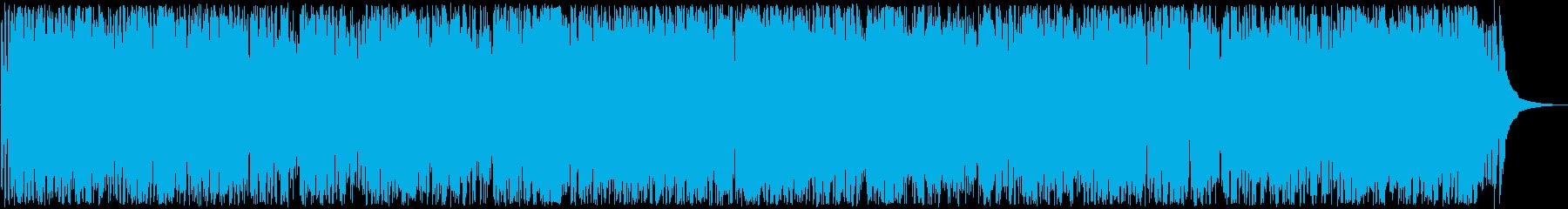 華やかな管楽器やサックスなどのサウンドの再生済みの波形