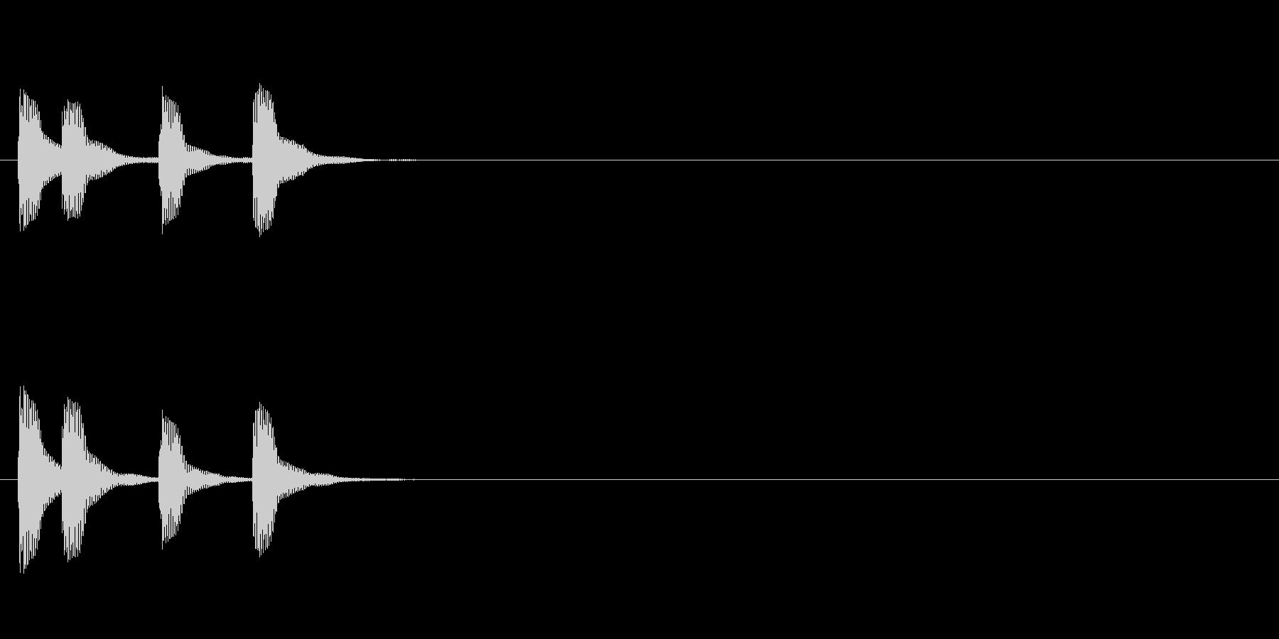 高めの木琴ジングルの未再生の波形