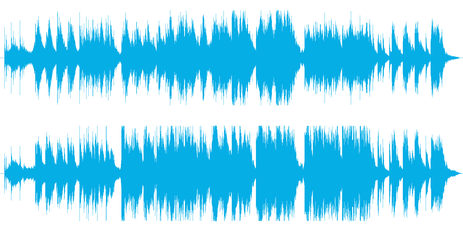 哀愁漂うピアノ曲の再生済みの波形