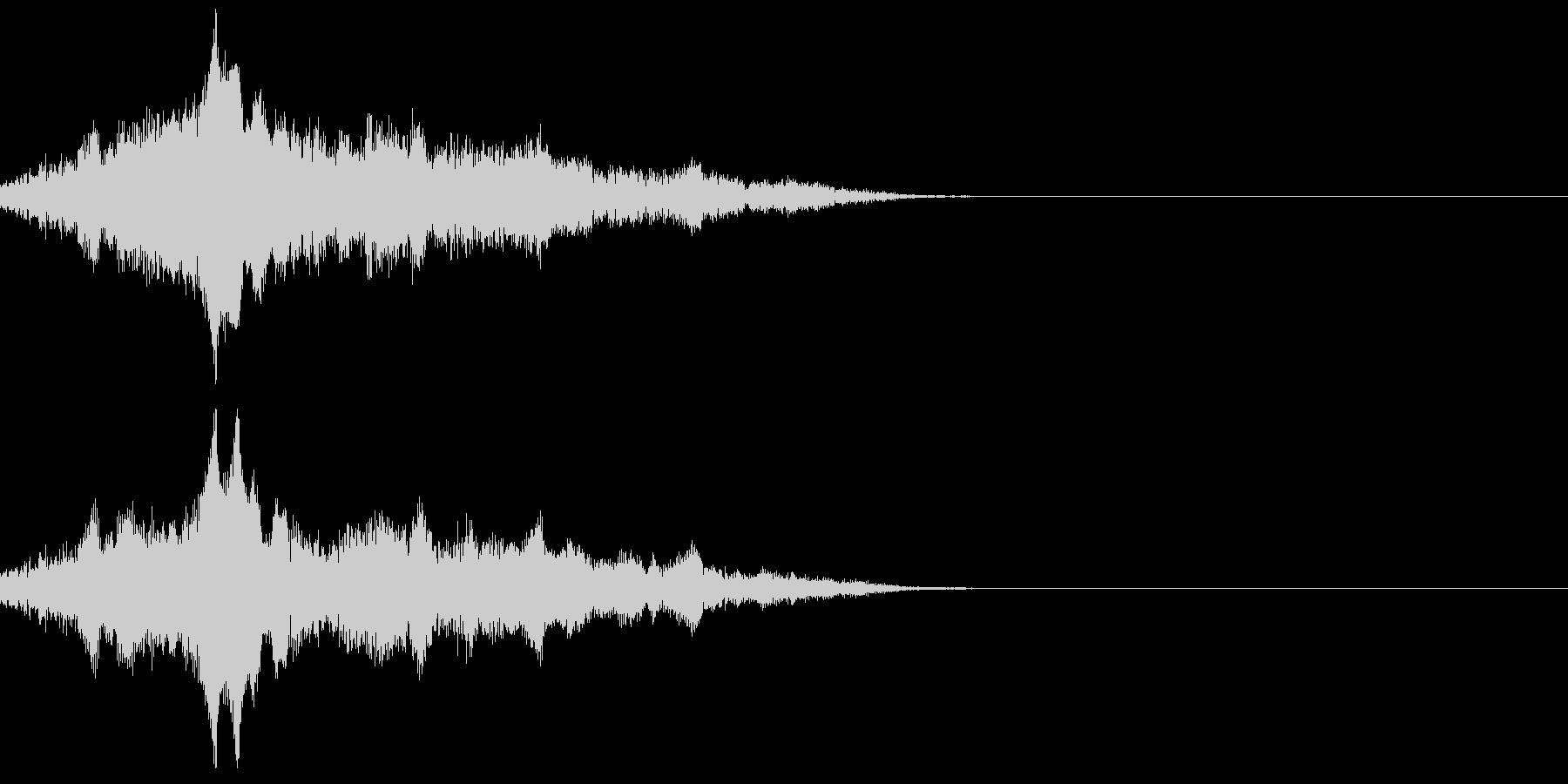 機械が動き出す音の未再生の波形