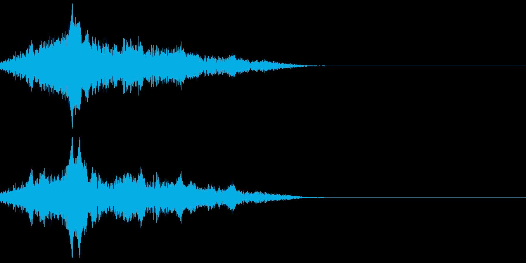 機械が動き出す音の再生済みの波形
