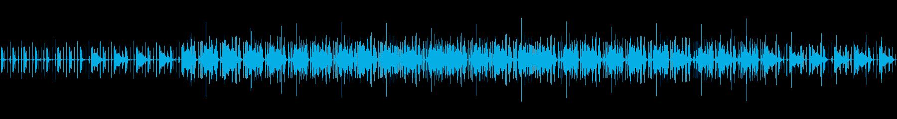 不気味でホラーな雰囲気のBGMの再生済みの波形