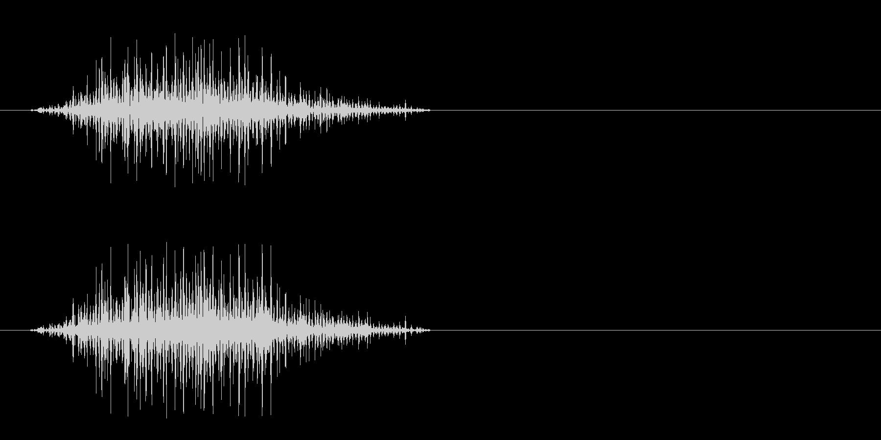 獣の威嚇 2の未再生の波形