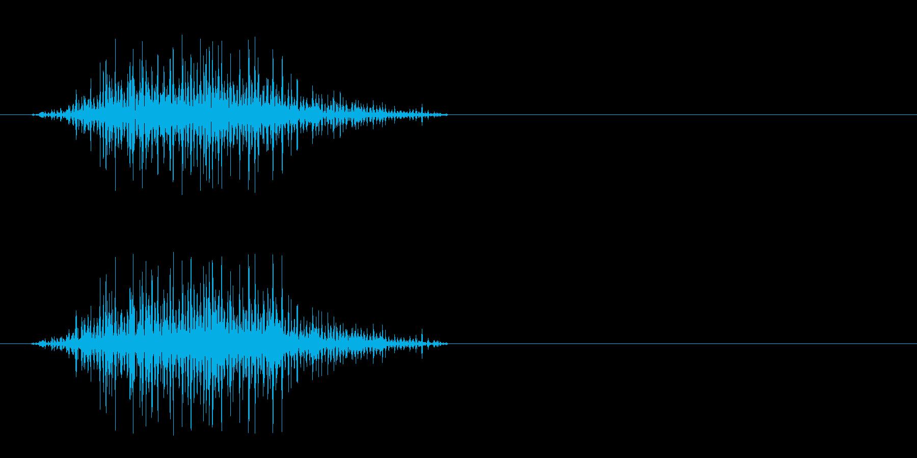 獣の威嚇 2の再生済みの波形