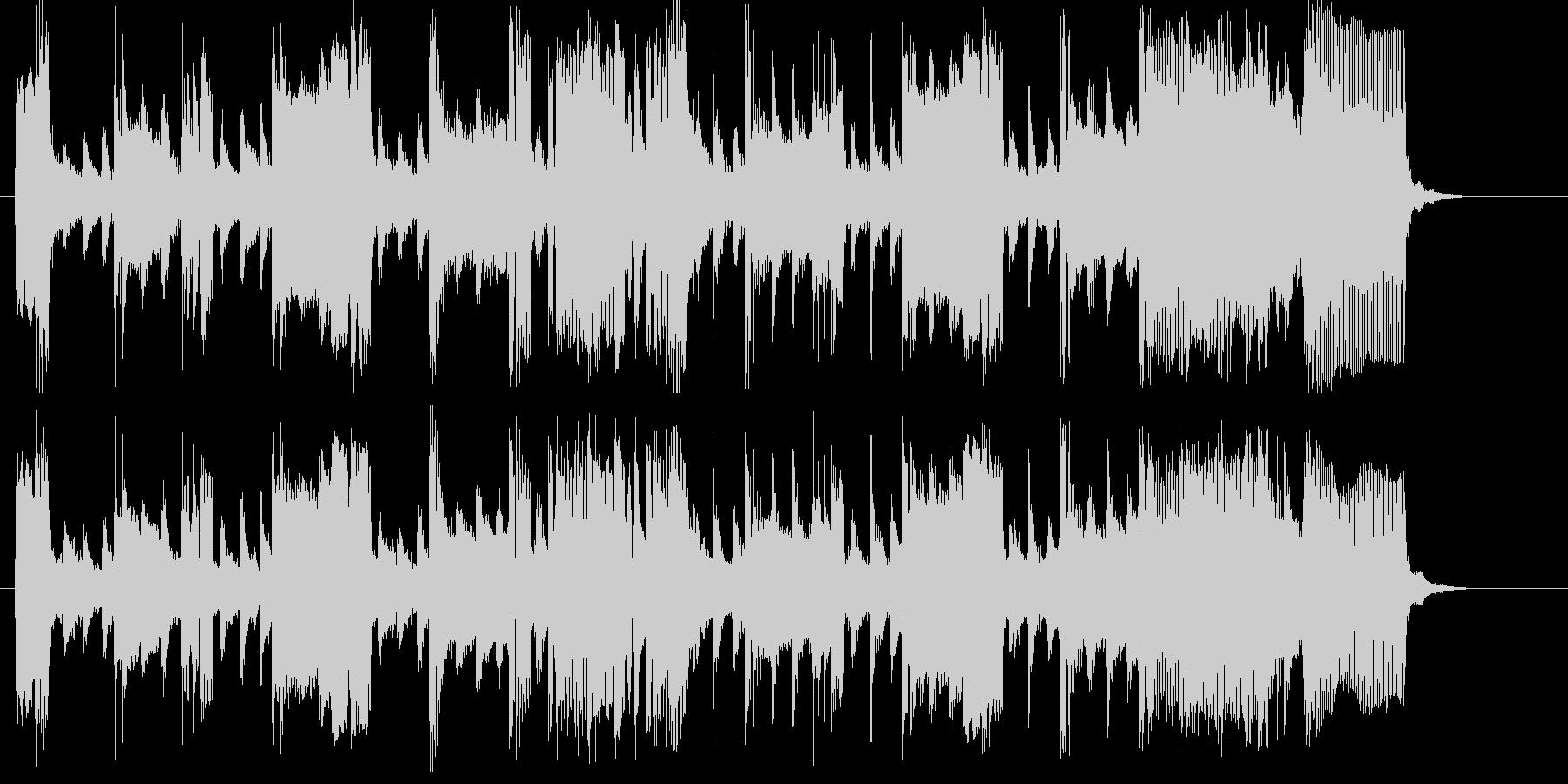 緩やかでなだらかなトランペットジングルの未再生の波形