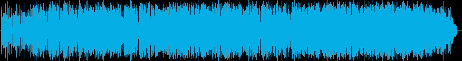 穏やか安らぐシンセサイザーサウンドの再生済みの波形