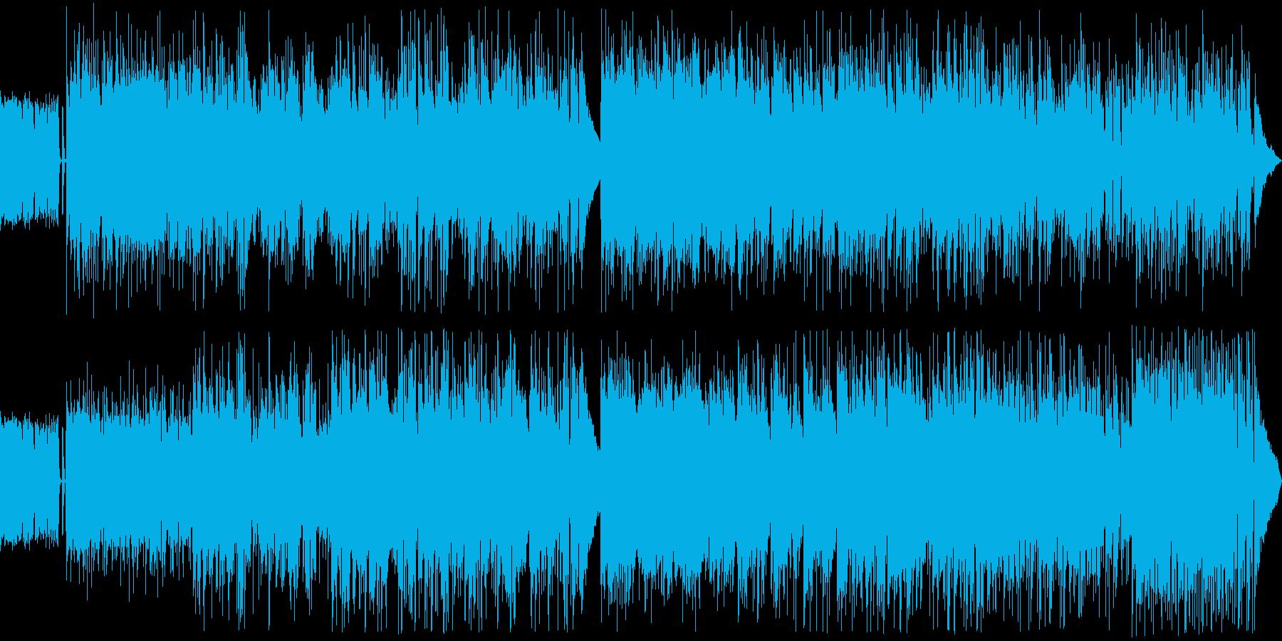 アコースティックギターとヴォーカルの楽曲の再生済みの波形