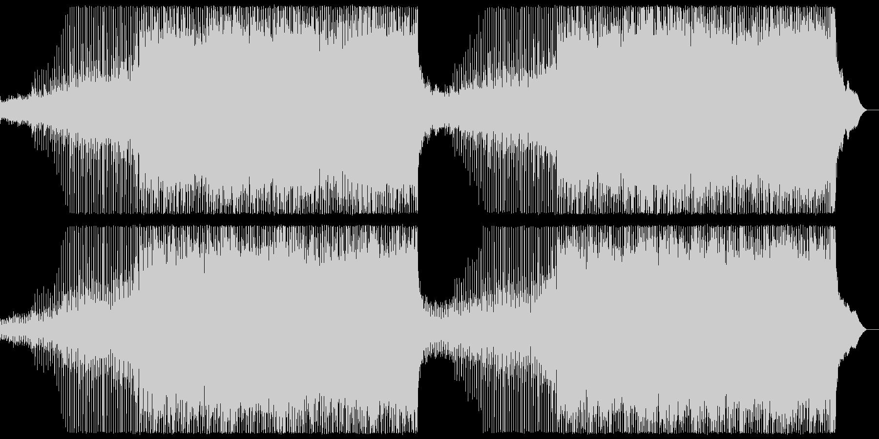 ややアップテンポな切ない4つ打ちポップの未再生の波形