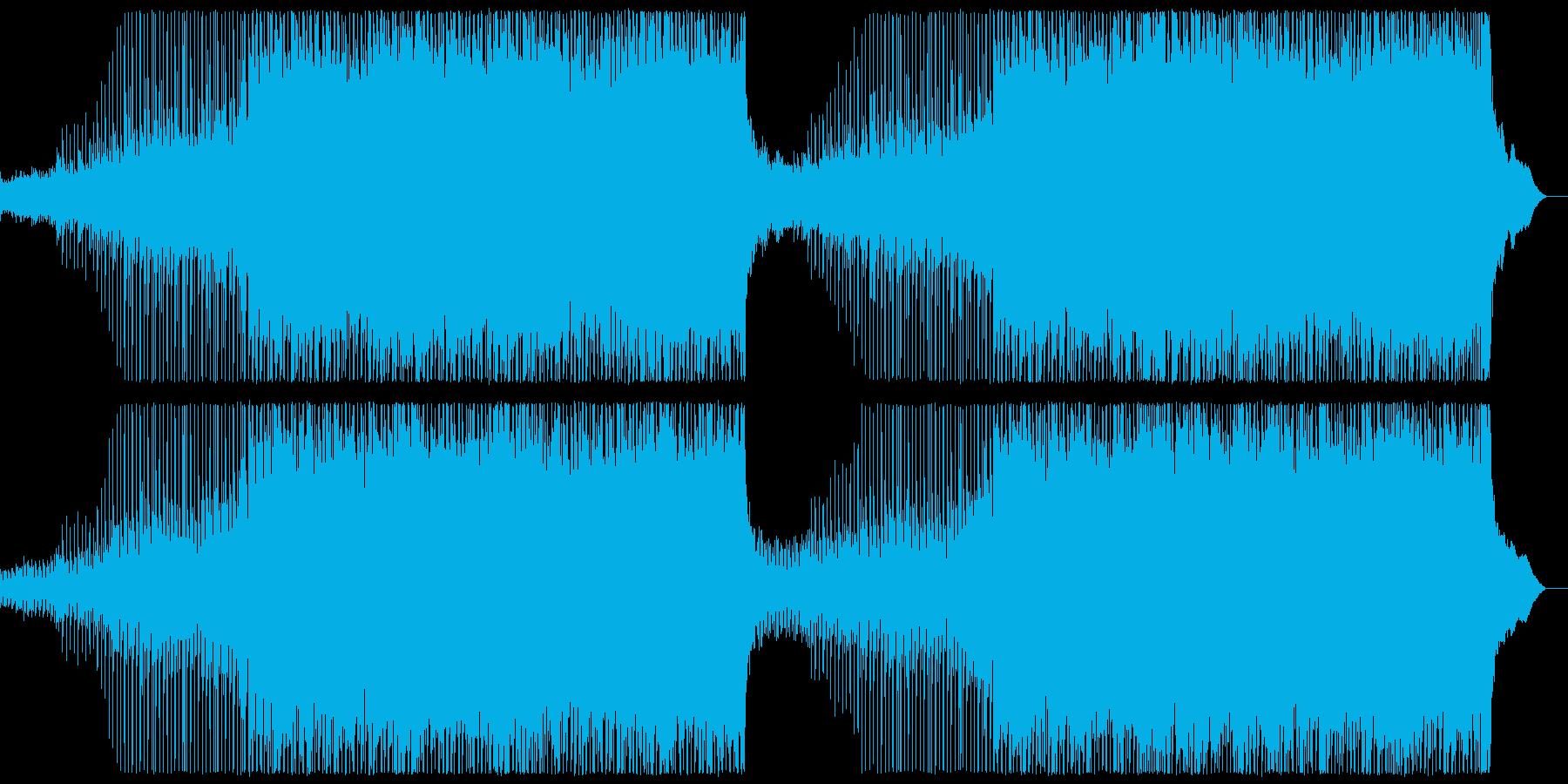 ややアップテンポな切ない4つ打ちポップの再生済みの波形