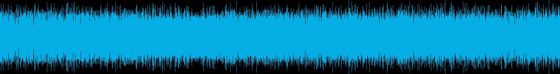 ザーーー(テレビの砂嵐音)の再生済みの波形