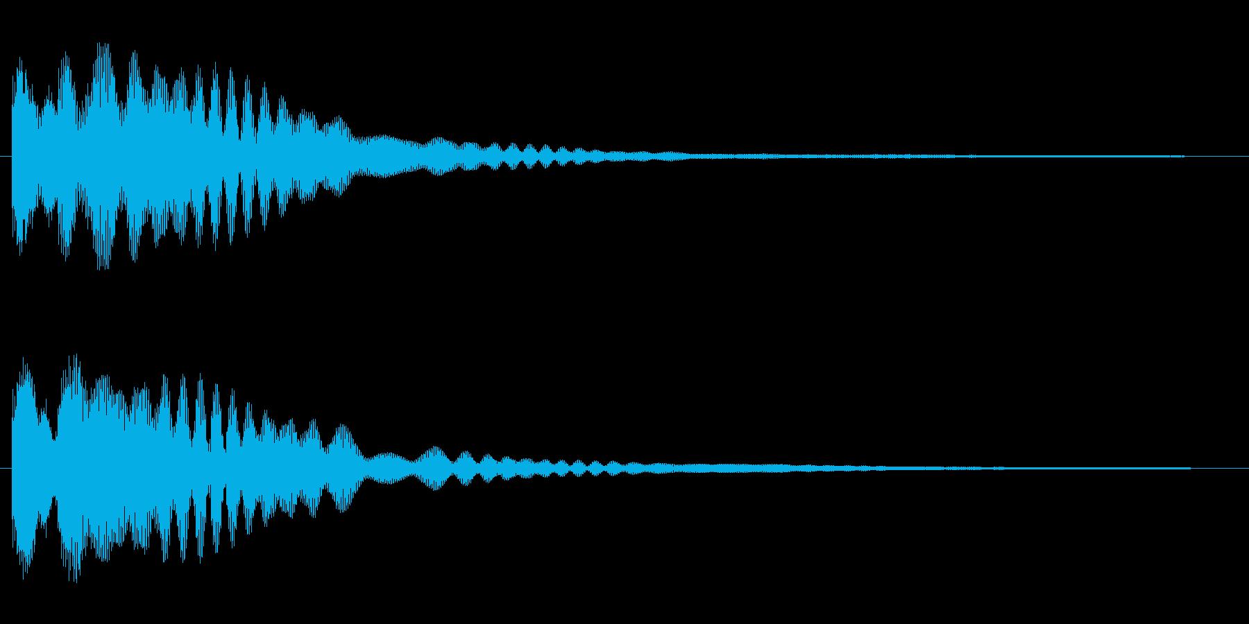 なにかをひらめいた時の音の再生済みの波形