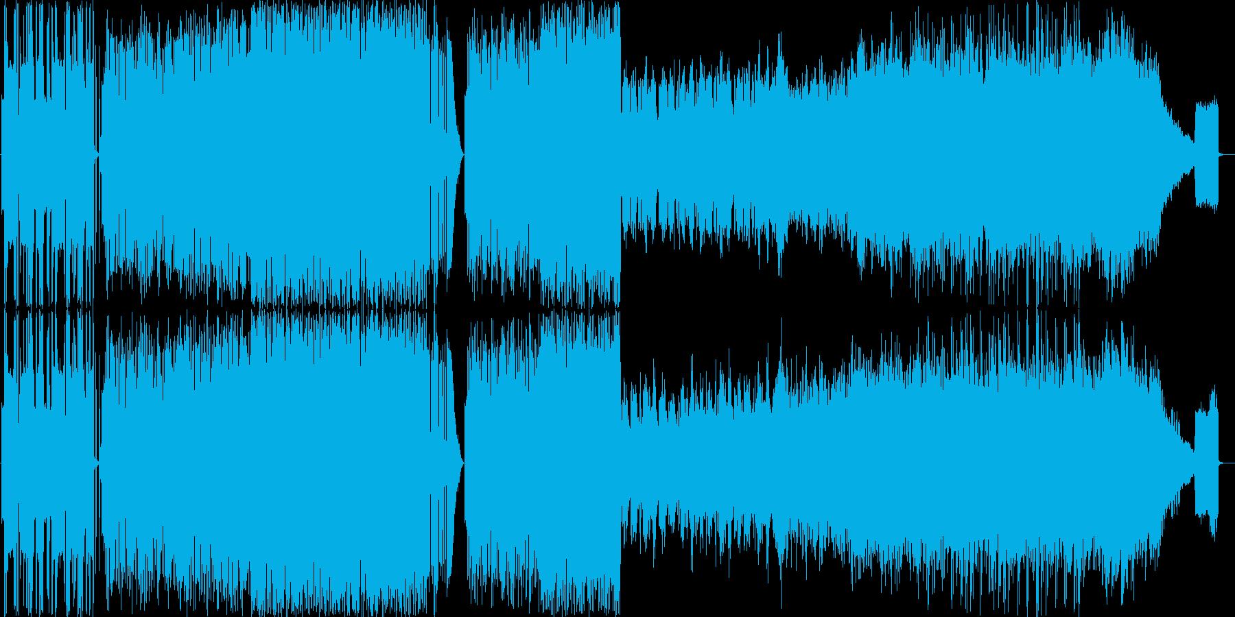異国情緒のあるピコピコ曲の再生済みの波形