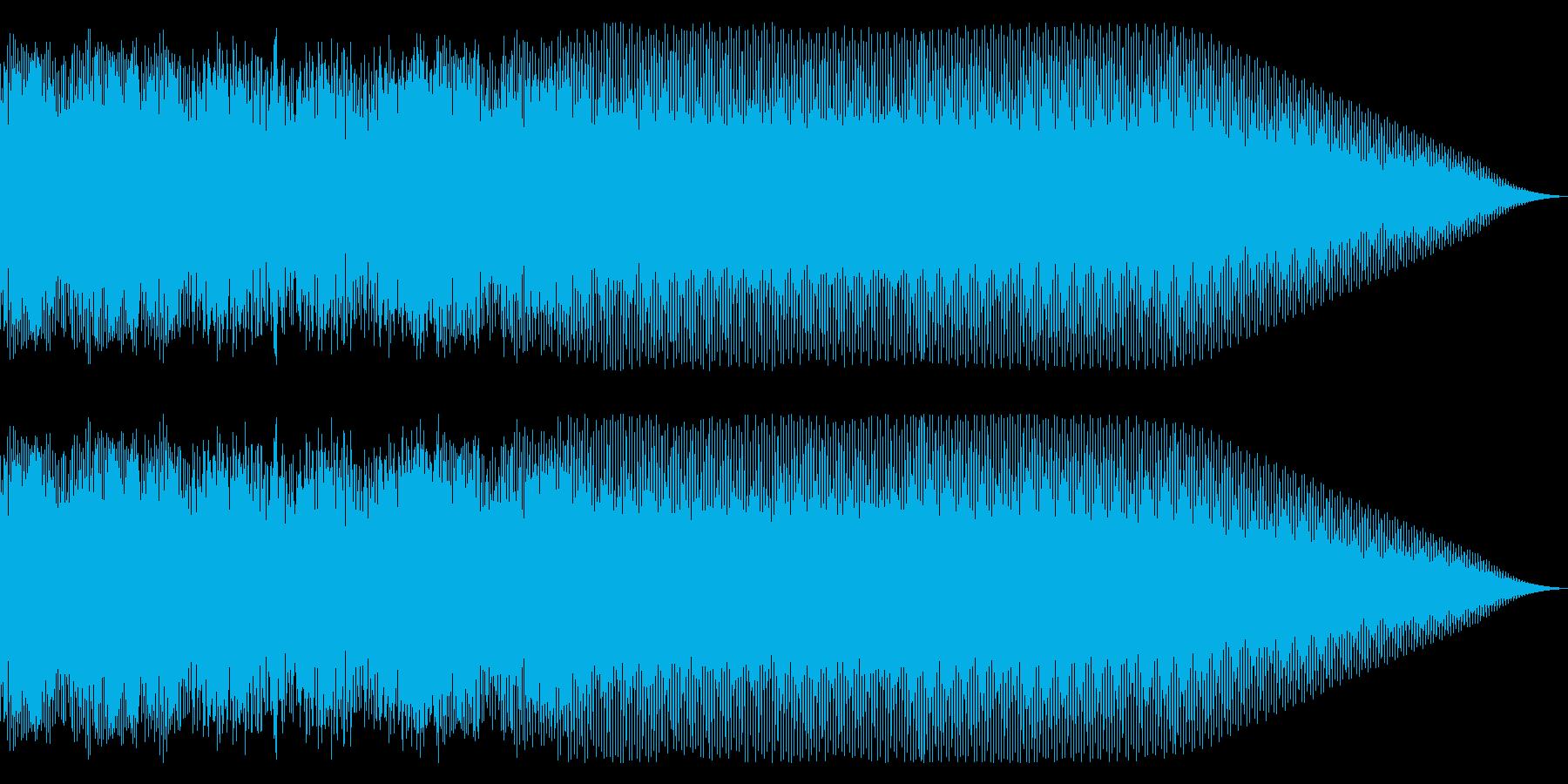 メタルギター ツインギターなフレーズの再生済みの波形