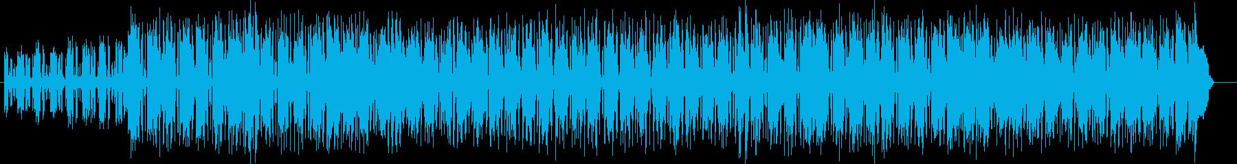 アップテンポで軽快なポップスの再生済みの波形