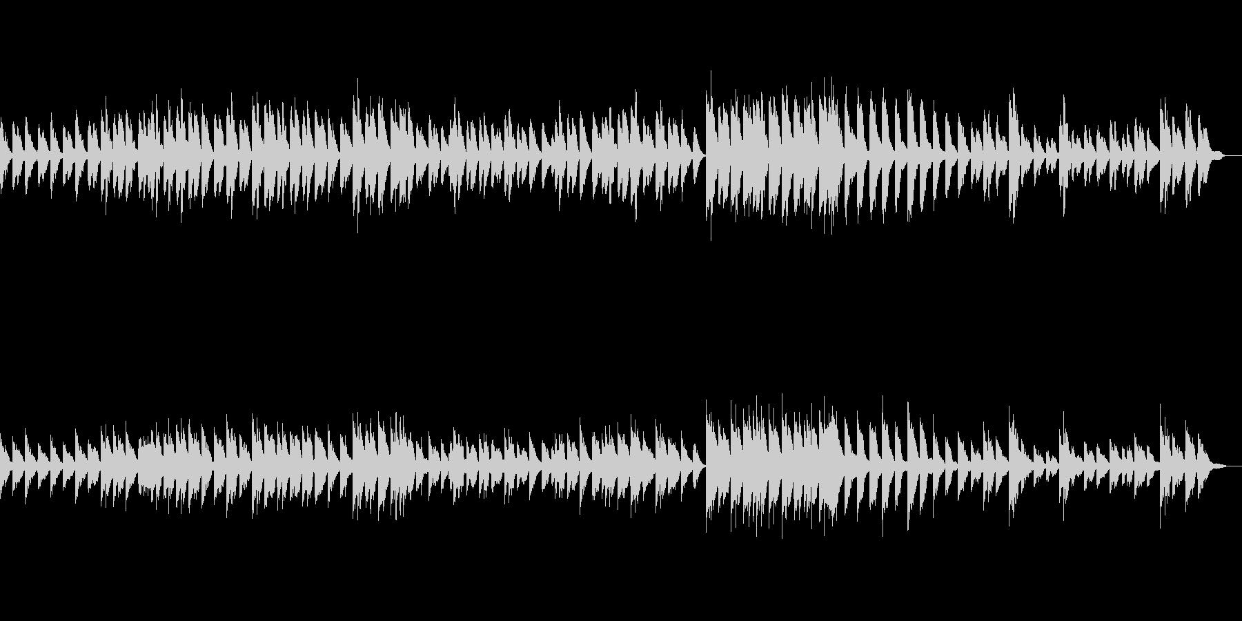 シンプルなバラード調のピアノ素材の未再生の波形