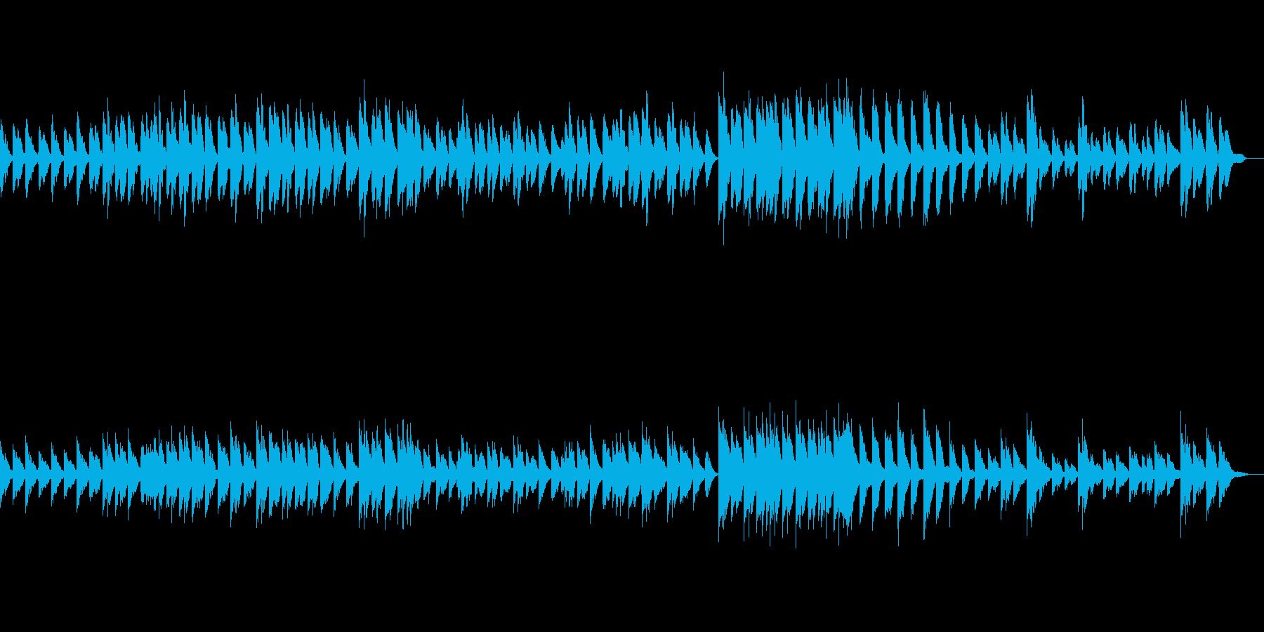 シンプルなバラード調のピアノ素材の再生済みの波形