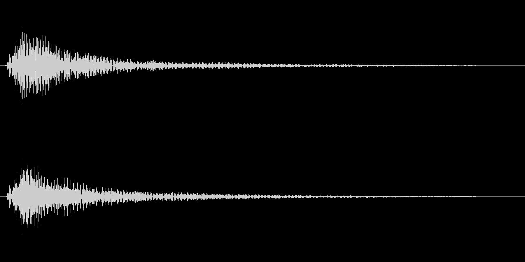 キューン(ベルのような音色)の未再生の波形