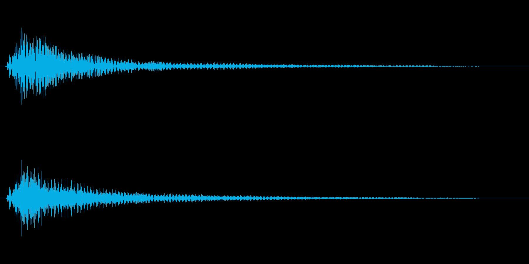 キューン(ベルのような音色)の再生済みの波形