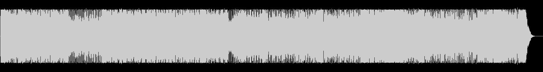 明るく可愛いらしいポップなBGMの未再生の波形