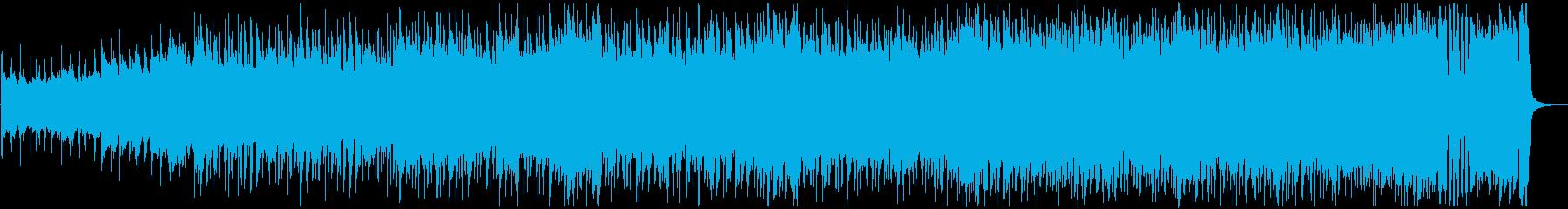 敵から逃げようとする場面のBGMの再生済みの波形