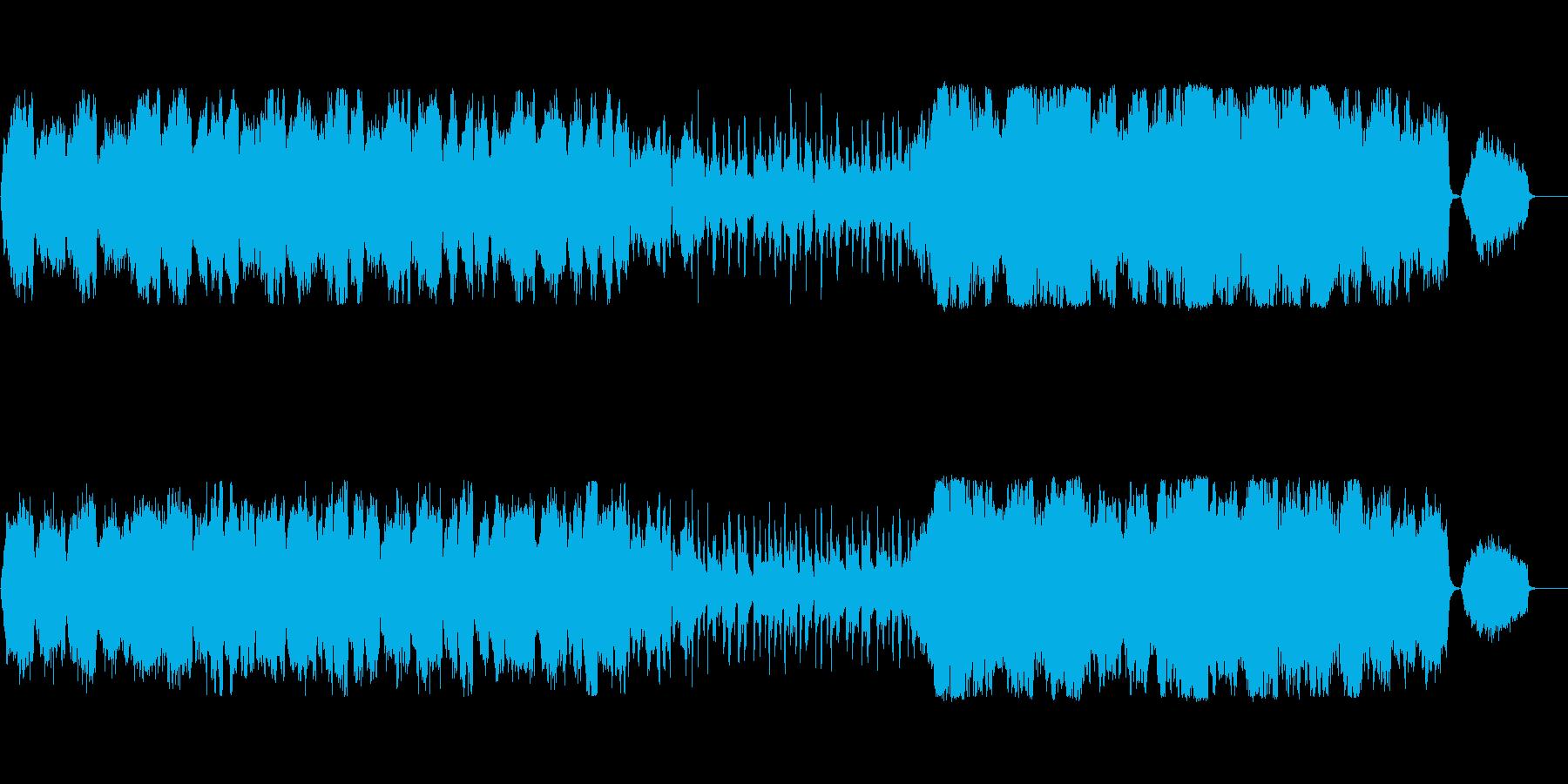 やや暗い荘厳なオーケストラの再生済みの波形