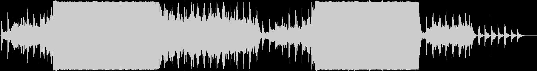 荒ぶる幻想的なピアノアンビエントロックの未再生の波形