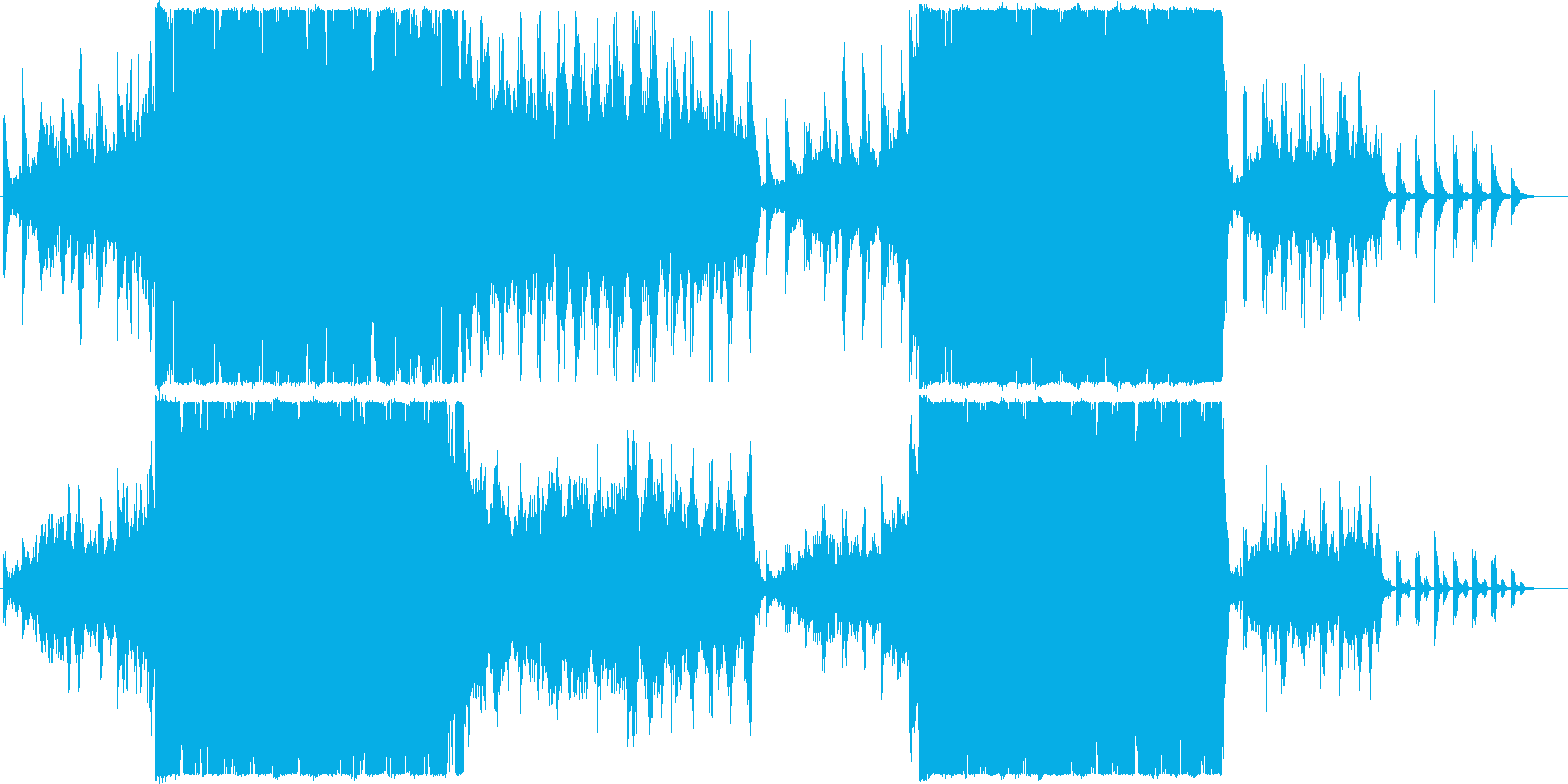 荒ぶる幻想的なピアノアンビエントロックの再生済みの波形