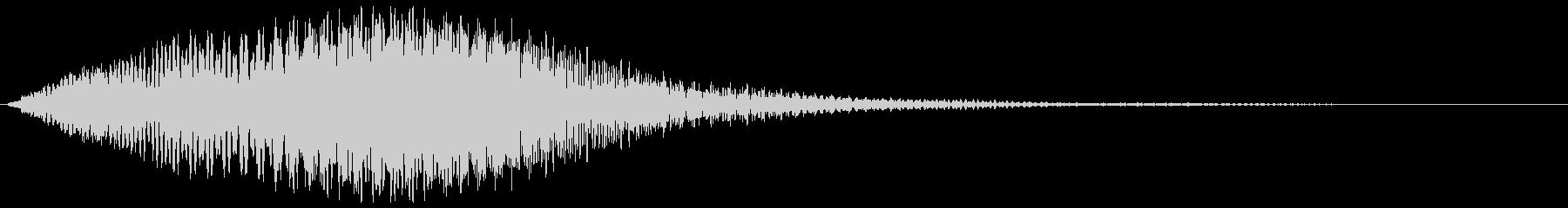 スペーシーなオープニング効果音の未再生の波形