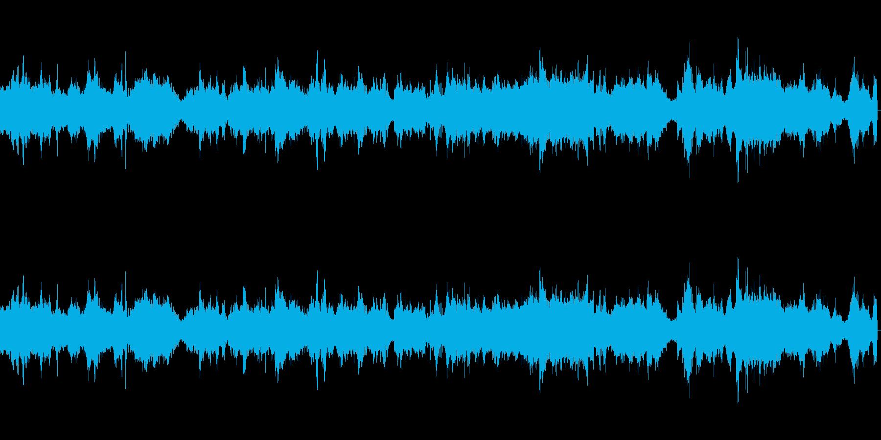 高速道路の自動車往来環境音の再生済みの波形